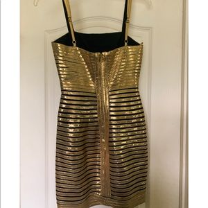 BCBG Gold Mini Dress